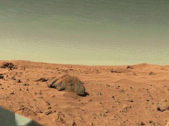 Foto salah satu permukaan planet mars