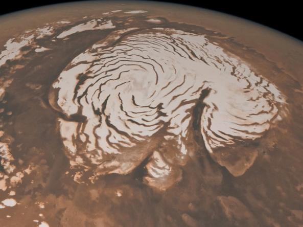Foto Kutub Utara Planet Mars