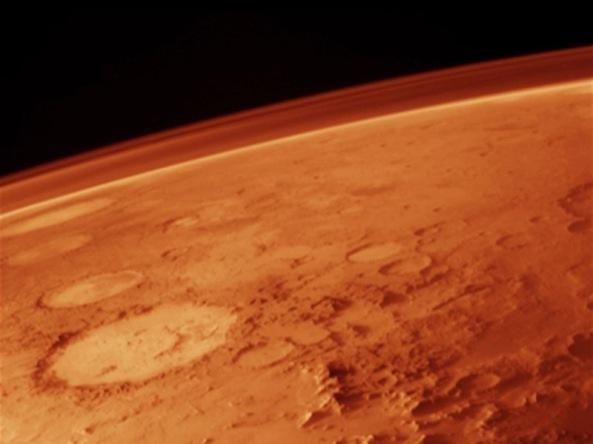 Salah satu permukaan planet mars